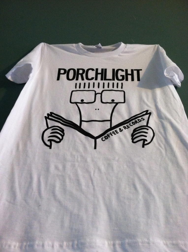 Stay sort of warm in a Porchlight printed on comfy American Apparel shirts.