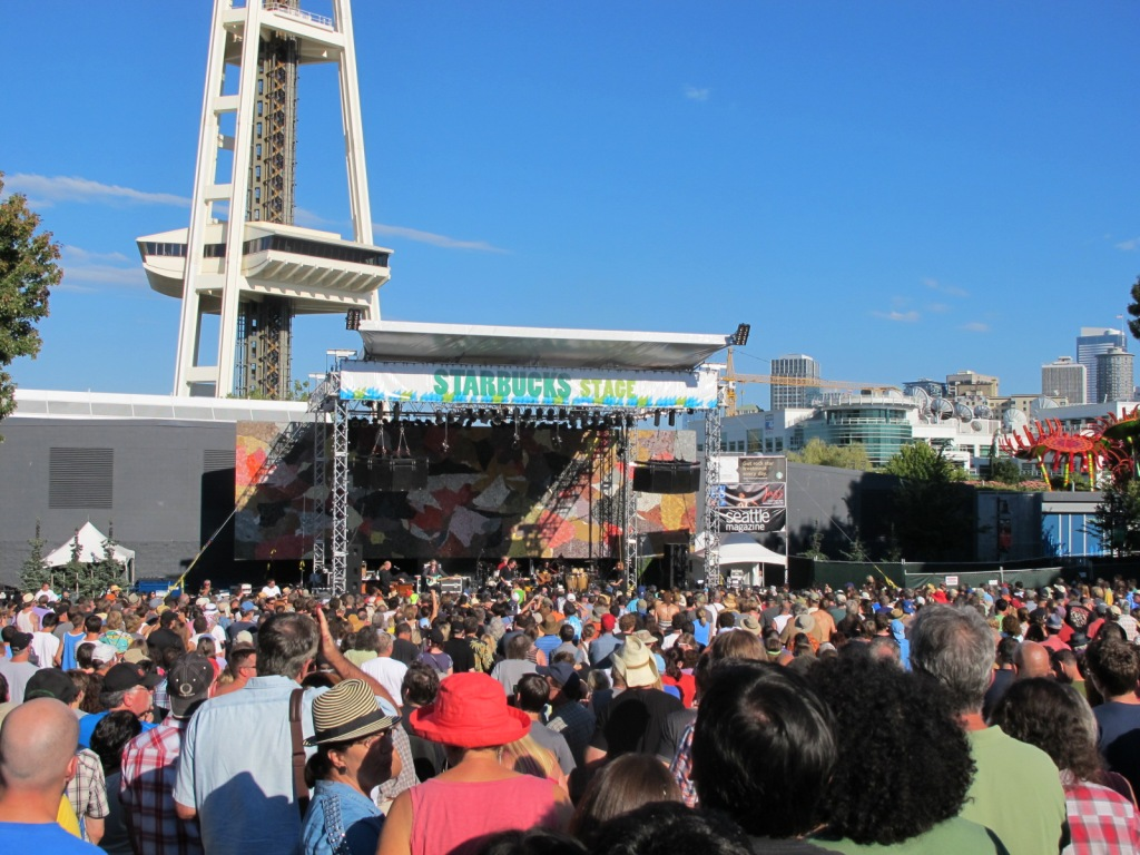 Eric Burdon and the Animals had the most...mature...crowd of the weekend.